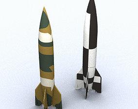 3D model V-2 A4 Missile