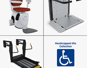3D handicapped lifts collection