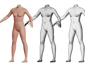 3D Character 46 High and Low-poly - Body female
