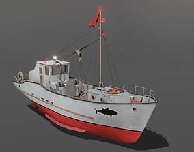 Fishing boat Skulte 3D model