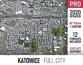 3D model Katowice - city and surroundings