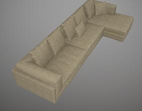 Corner Sofa Latte 3D model