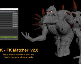 matcher IK to FK Matcher 3D model