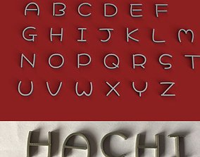 HACHI uppercase and lowercase 3D Letters STL FILE