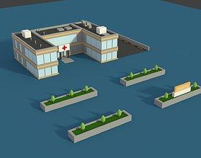 Low Poly Hosptial 2 3D asset
