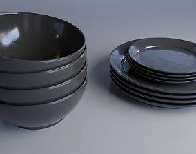 Dining set 3D model PBR