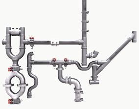 Pipe and Pipe Clamp Pack 3D