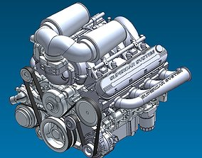 3D model Supercar System Powertrain Assembly Stage 1