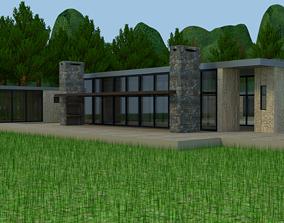 3D model Boyita House house in the woods Blender