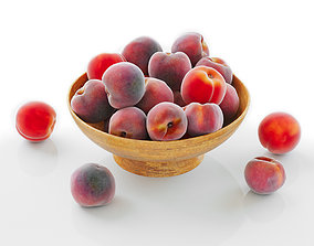 Peaches in a Wooden Vase 3D