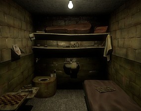 3D asset Old Prison Cell