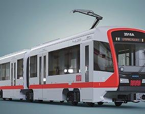 San Francisco Tramway MUNI SFMTA Siemens S200 3D