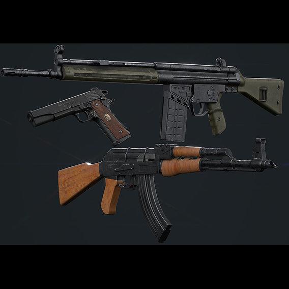 Low Poly Guns