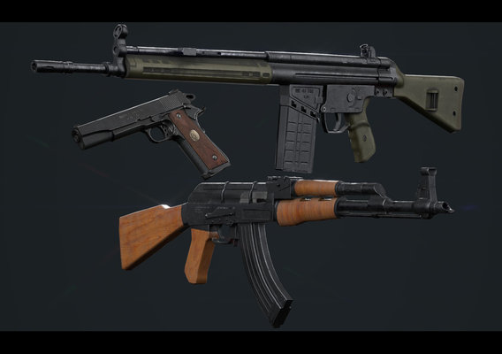Low Poly Guns