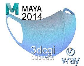 Medical face mask 3D asset