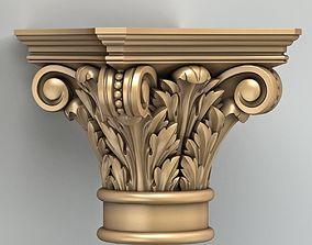 3D wood Column Capital 008