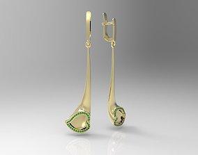 3D printable model Heart shaped tube earrings