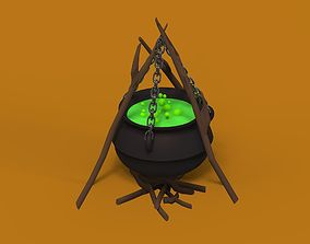 3D model Cauldron with a potion