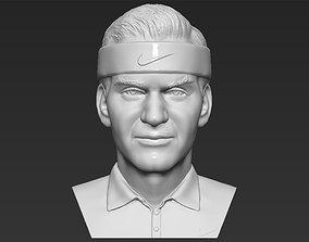 Roger Federer bust 3D printing ready stl obj