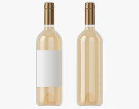 3D model Wine bottle mockup 02
