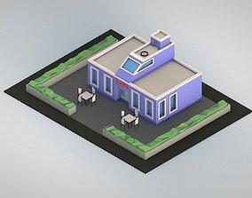 3D asset Low Poly Cafe