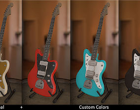 Squier Jazzmaster Guitar By Fender 3D asset