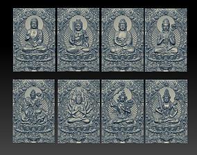 Eight buddhas 3D printable model