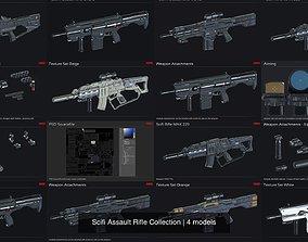 Scifi Assault Rifle Collection 3D model