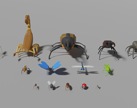 3D model Insects Pack