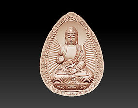 bas-relief of buddha pendant 3D print model