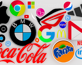 Logo company 3D asset