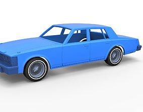 Diecast shell Cadillac Seville 1979 4 3D print model 4