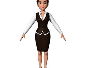 3D model Cartoon Office Women