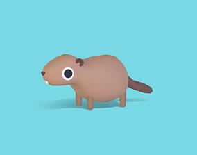 3D model Benjo the Beaver - Quirky Series