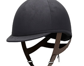Classic Jockey helmet for horse-riding athlete 3D model