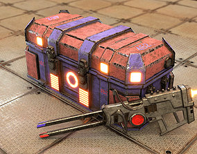 3D asset Sci-Fi Chest With Magnezone Weapon