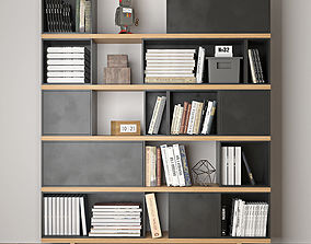 bookcase office 3D