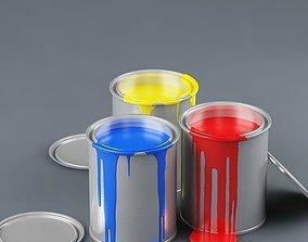 3D model Paint can 01