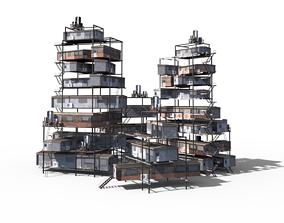 Sci Fi building pack - Building Stack - DMP asset 3D