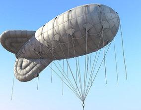 WW2 Barrage Balloon 01 3D asset