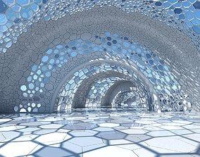 3D model Futuristic Architectural Dome Interior