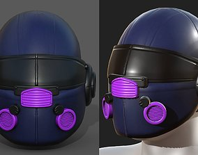 Helmet scifi fantasy futuristic military 3D asset 1