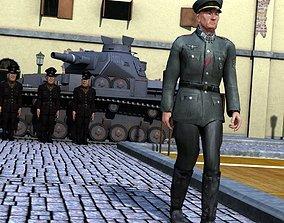 3D model German Officer for M4