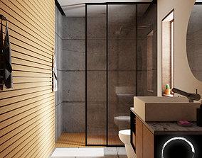 3D model Minimal Bathroom Design