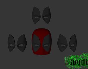3D printable model Deadpool Mask v2 NEW