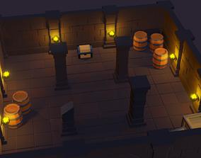 3D asset game-ready Modular Spooky Dungeon Set