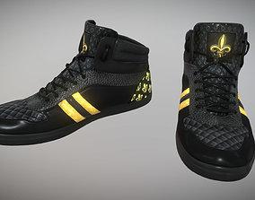 Black Gold Sneakers FleurDeLis Style 3D asset