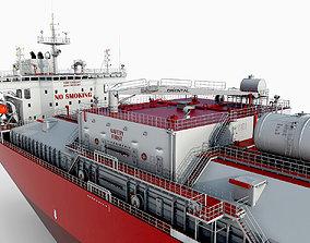 Tanker Red hquality 3D model