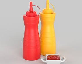 3D Tomato Ketchup Container