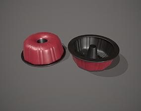 Red Funnel - Bundt Cake Tin 3D asset